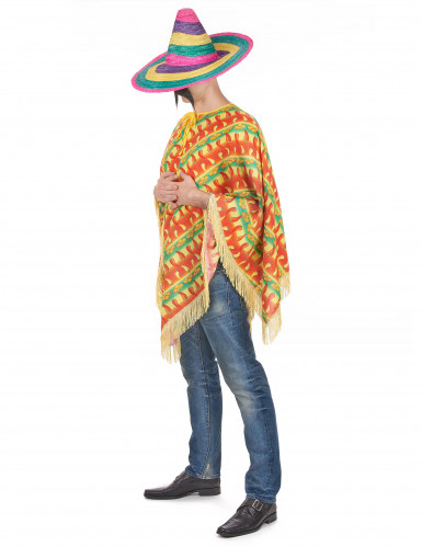 Poncho piment mexicain adulte-1