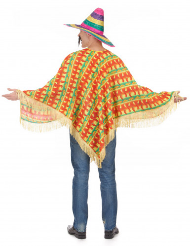 Poncho piment mexicain adulte-2