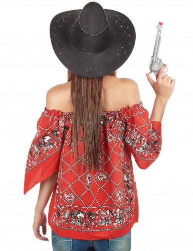 T-shirt cowboy femme-1