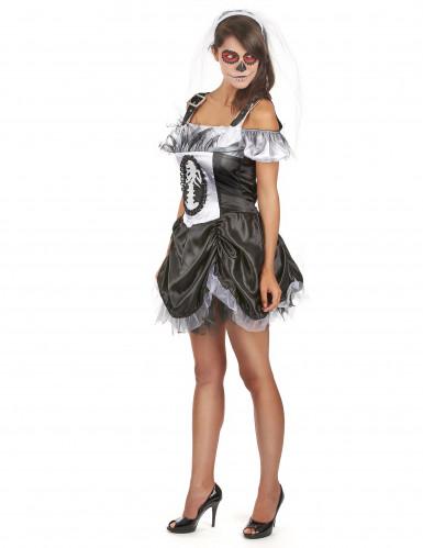 Déguisement squelette chic femme Halloween-1