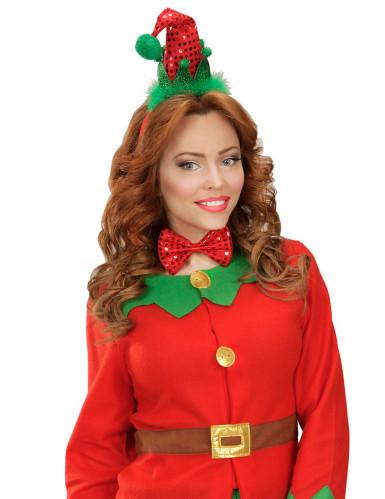 Kit serre-tête et noeud papillon elfe Noël