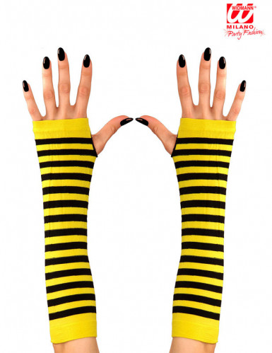 Mitaines longues abeille adulte-1