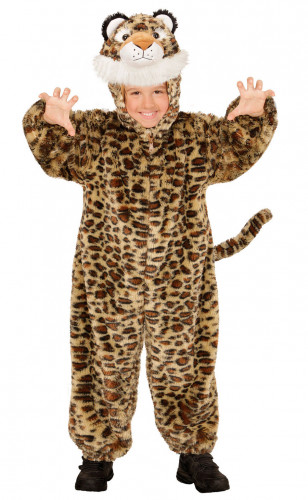 Déguisement léopard effet peluche enfant