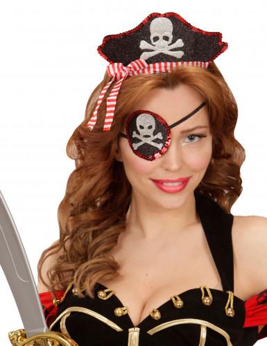 Serre-tête et cache oeil sexy pirate femme