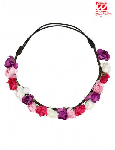 Couronne fleurs pastels femme-1