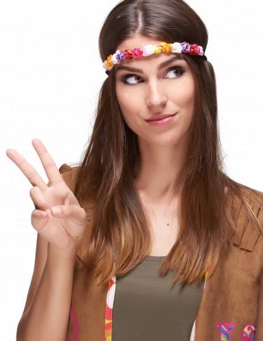Couronne fleurs multicolores femme-1