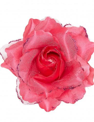 Rose fuschia pour cheveux femme