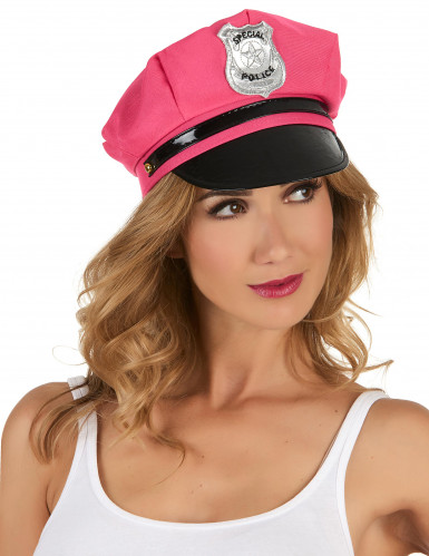 Casquette policière rose femme