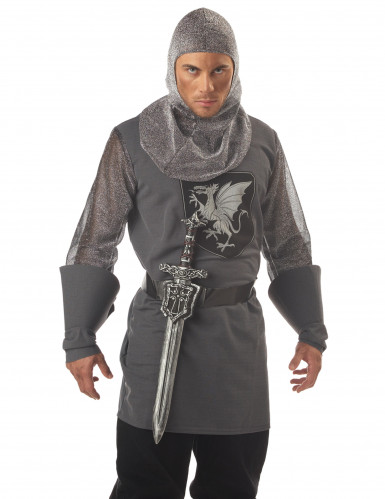 Epée de Chevalier en plastique et ceinture-1