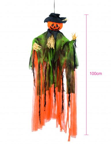 Décoration à suspendre épouvantail citrouille Halloween 1 m -1