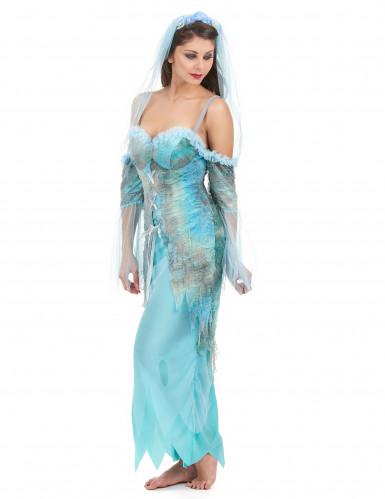 Déguisement sirène turquoise femme-1
