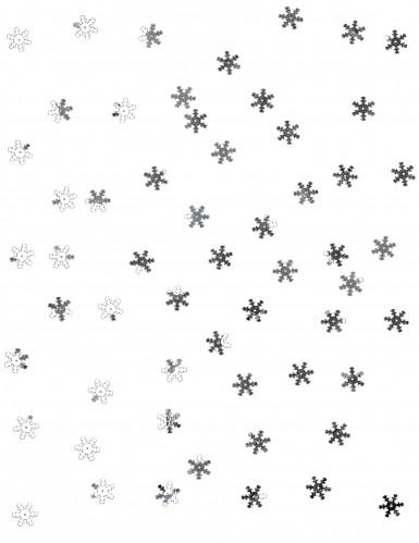 Confettis de table flocons de neige argent 10 gr-1