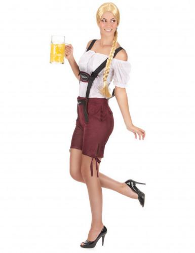 Déguisement tyrolienne short bordeaux femme-1