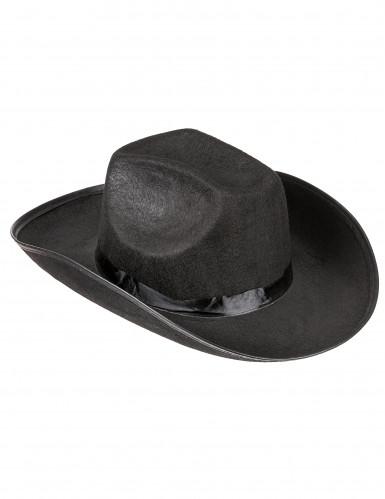 Chapeau cowboy noir pour adulte
