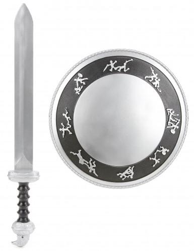 Kit Gladiateur épée et bouclier Enfant en plastique