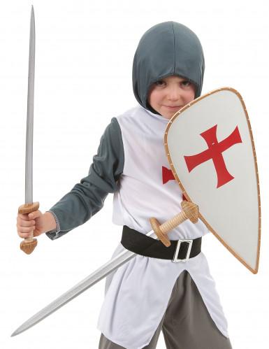 Kit bouclier et 2 épées chevalier croisé Enfant-1