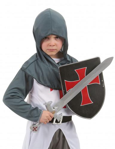 Kit bouclier et épée de chevalier croisé en plastique pour Enfant-1