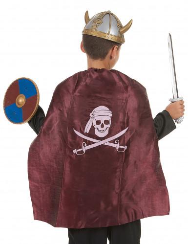 Kit Viking en plastique- épée bouclier et cape Enfant-1