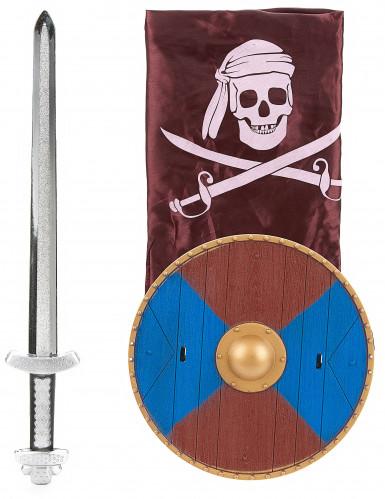 Kit Viking en plastique- épée bouclier et cape Enfant-2