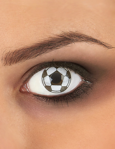 Lentilles fantaisie ballon de football adulte