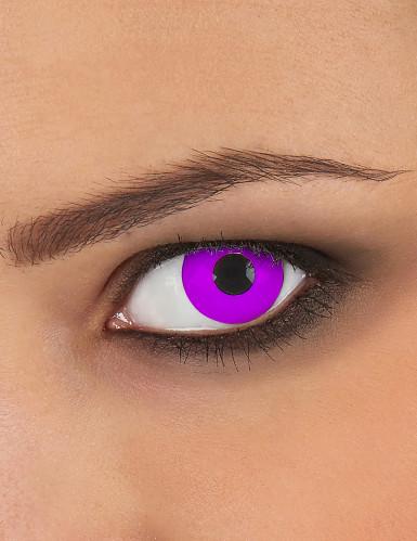 Lentilles fantaisie oeil violet 3 mois adulte