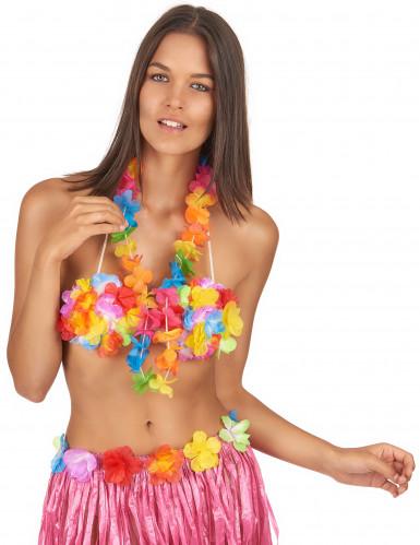 Collier Hawaï couleurs vives-1