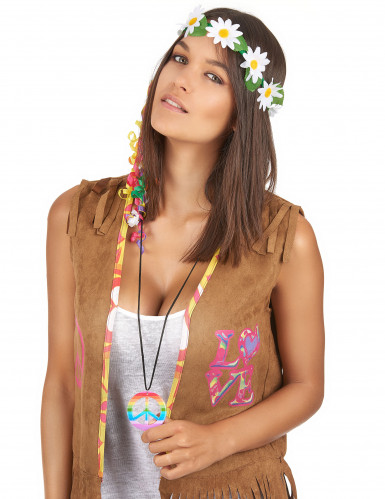 Collier hippie multicolore Adulte-1