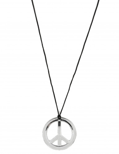 Collier hippie en plastique Adulte