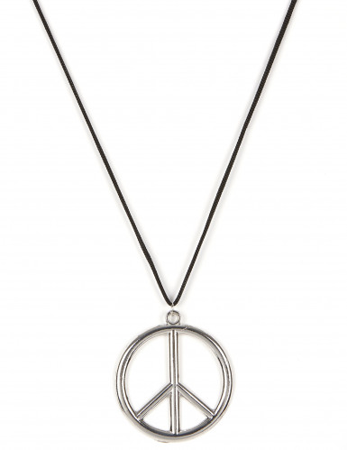 Collier hippie en métal Adulte