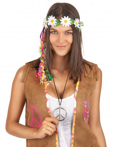 Collier hippie en métal Adulte-1