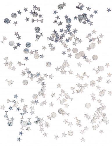 Trio de confettis argentés-1