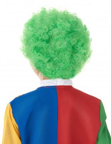 Perruque clown enfant verte-1