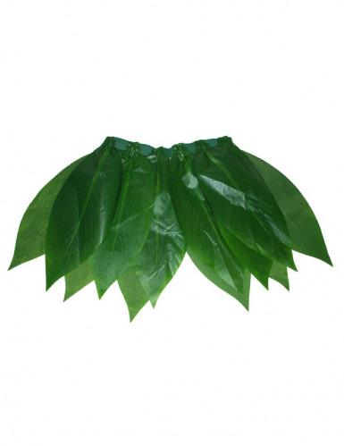 Jupe hawaienne à feuilles vertes femme-1