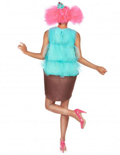 Déguisement cupcake turquoise femme-2