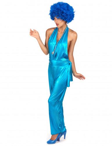 Déguisement combinaison sexy disco bleue-1