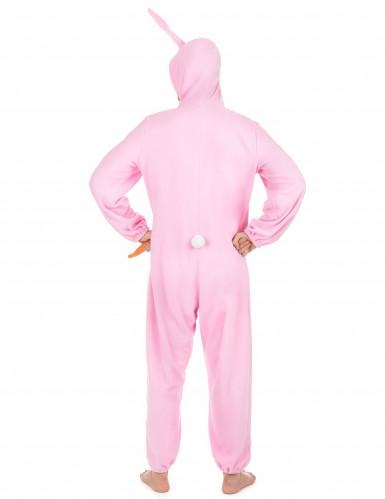Déguisement lapin rose Homme-2