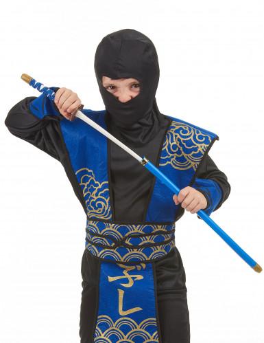 Sabre de Ninja en plastique bleu-1
