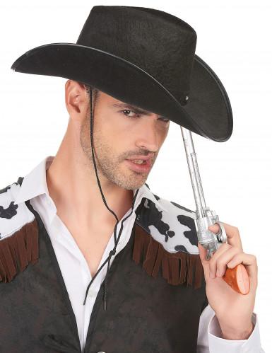 Chapeau cowboy noir adulte-1