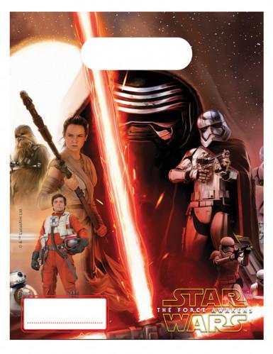6 Sacs cadeaux Star Wars VII™ 23 x 16,5 cm