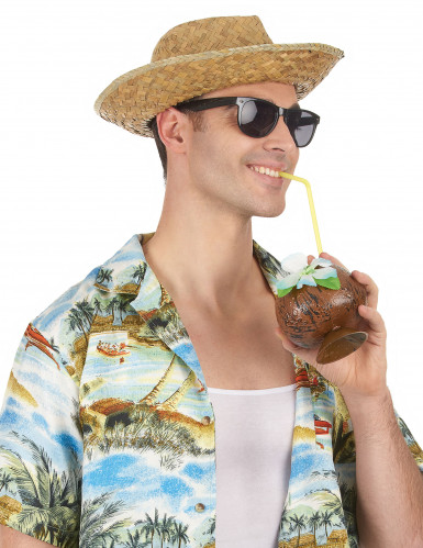 Chapeau Panama en paille adulte-1