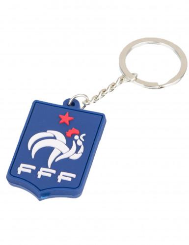 Porte clés silicone bleu France FFF™