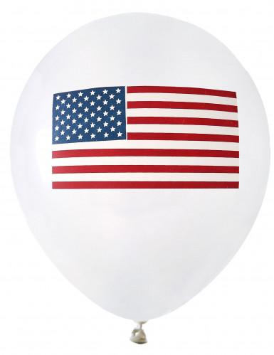 8 Ballons en latex USA 23 cm