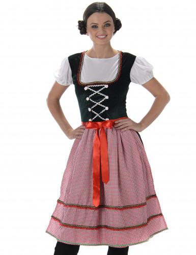 Déguisement Bavaroise robe longue femme-1