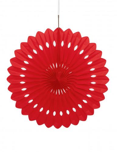 Rosace rouge à suspendre 40 cm