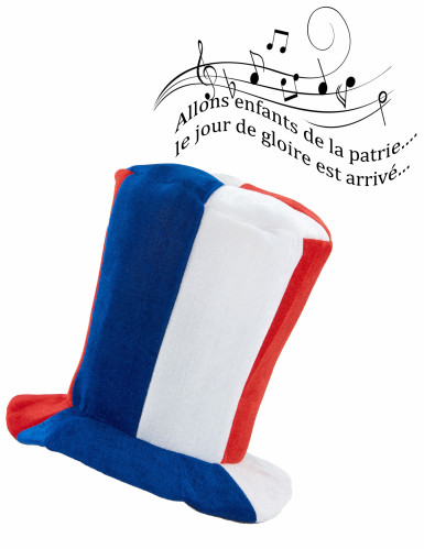 Chapeau haut de forme musical supporter France-1
