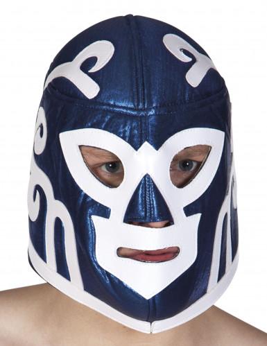 Masque catcheur bleu adulte