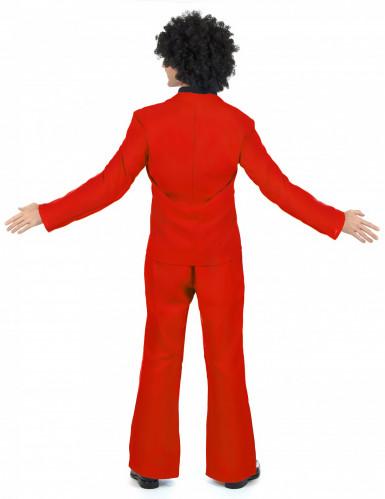 Déguisement disco rouge adulte-2