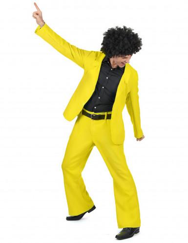 Déguisement disco jaune adulte-1
