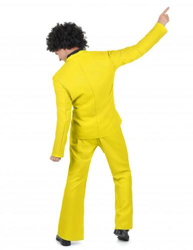 Déguisement disco jaune adulte-2