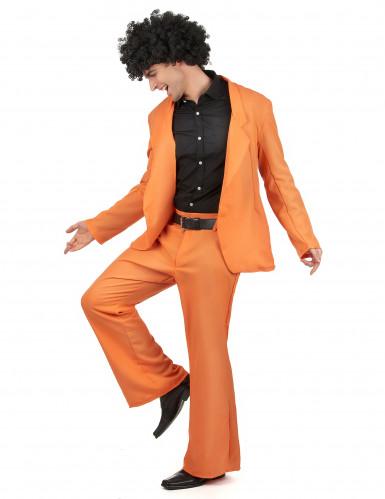 Déguisement disco orange adulte-1